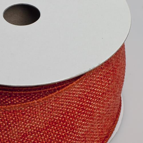 richland burlap ribbon with wire orange 2 5 x 10 yards