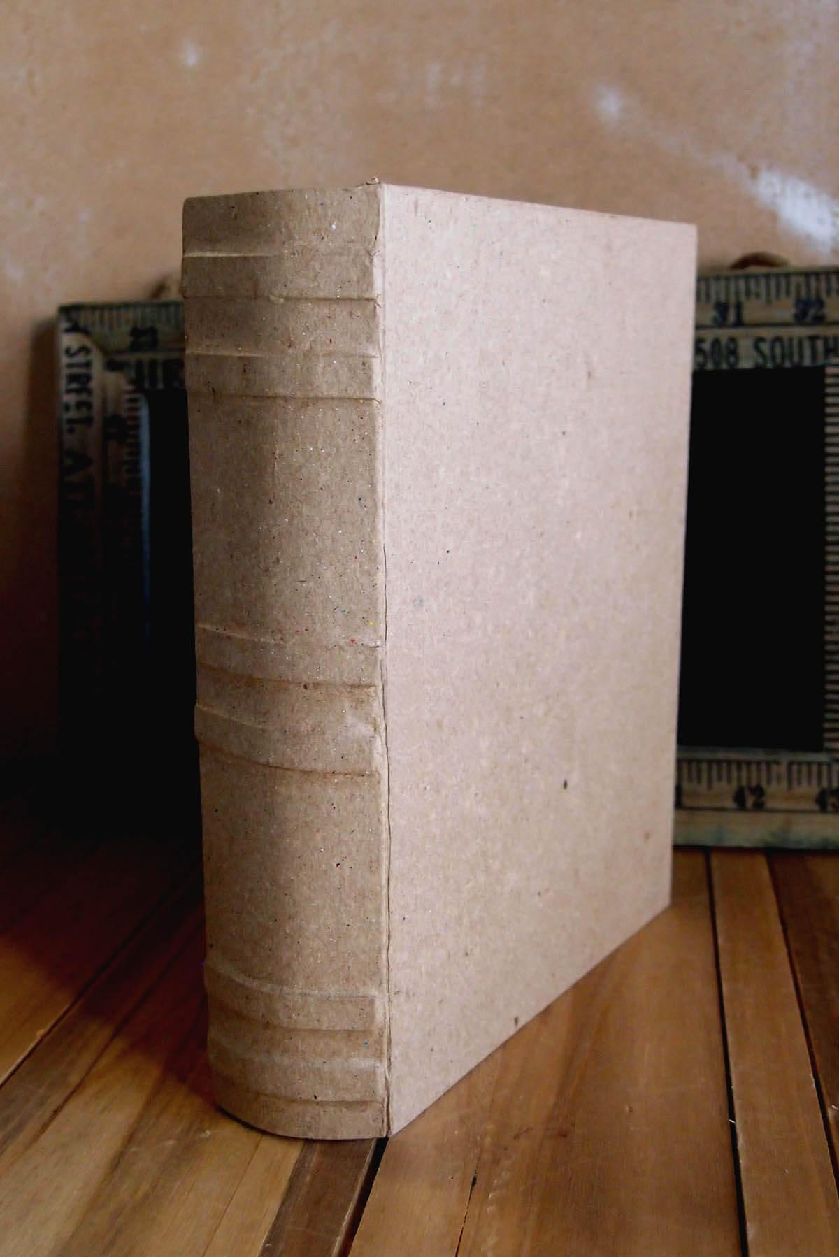 paper mache book box 6 x 7 75in
