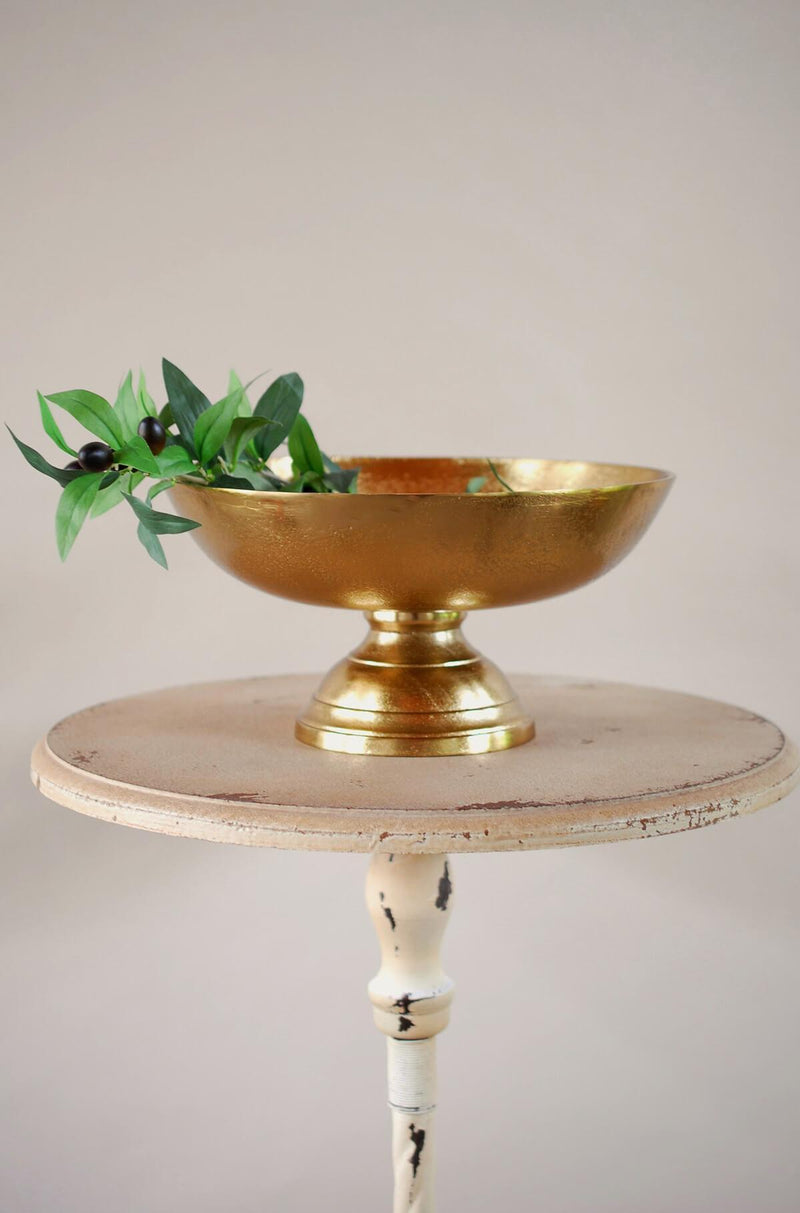 Pedestal Bowl Gold