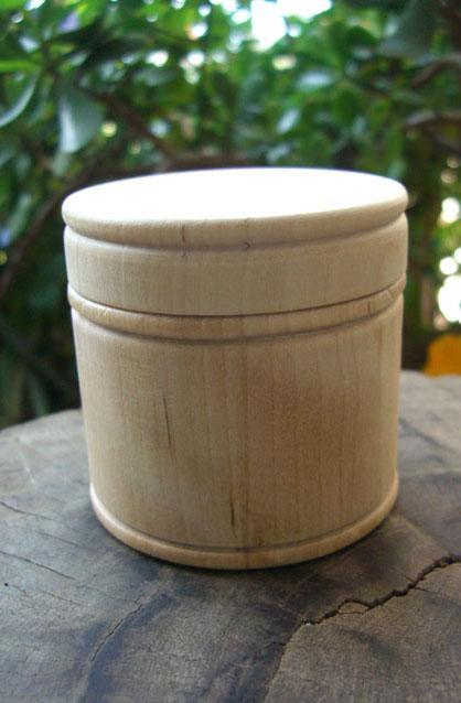 Pine Wood Round Box 3in