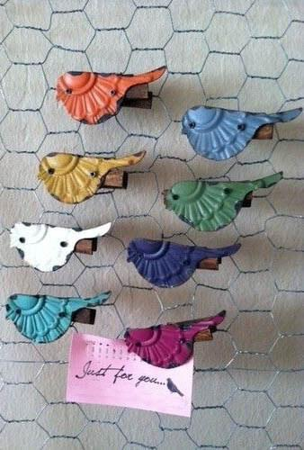 Flock of Birds Clips - Set of 8