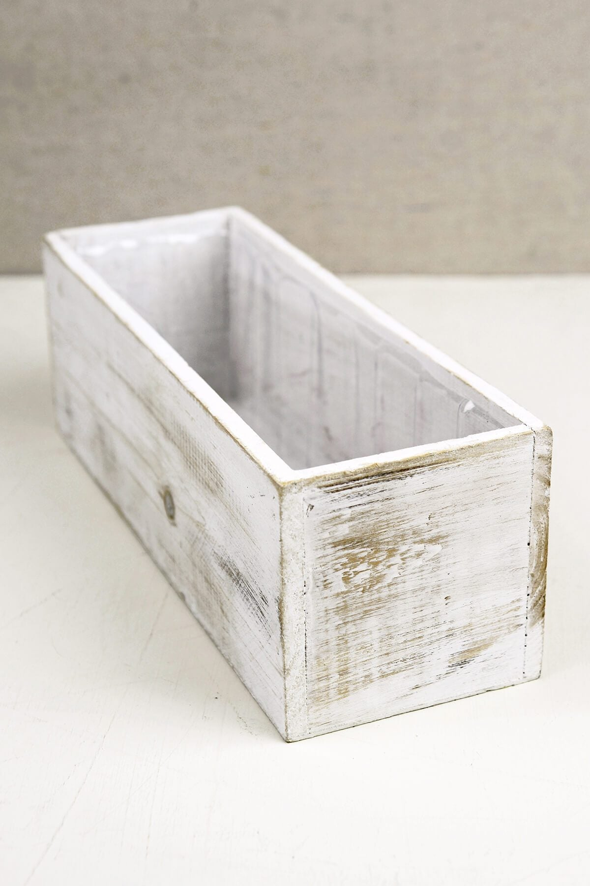 White   4x12 Wood Planter Boxes