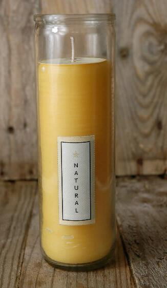 pure beeswax sanctuary glass candle 8
