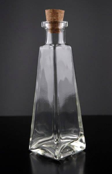 clear glass 6 oz pyramid glass bottles 7in