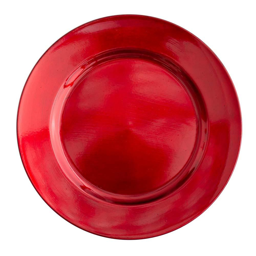 "Richland Plain Charger Plate 13"" Red Set of 48"
