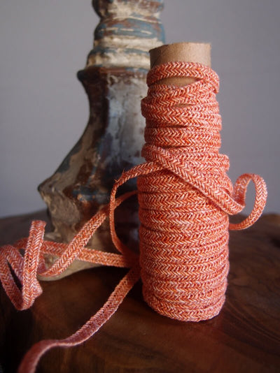 Orange Linen Braided Cord 10 Yds