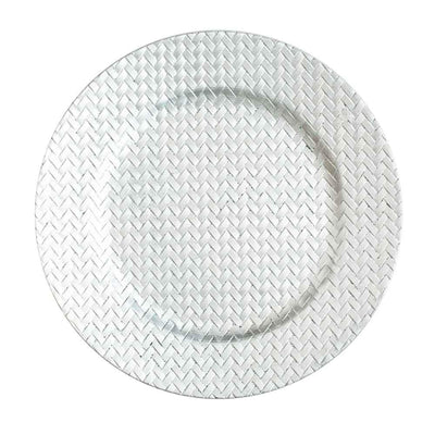 "Richland 13"" Woven Charger Plate Silver Set of 24"