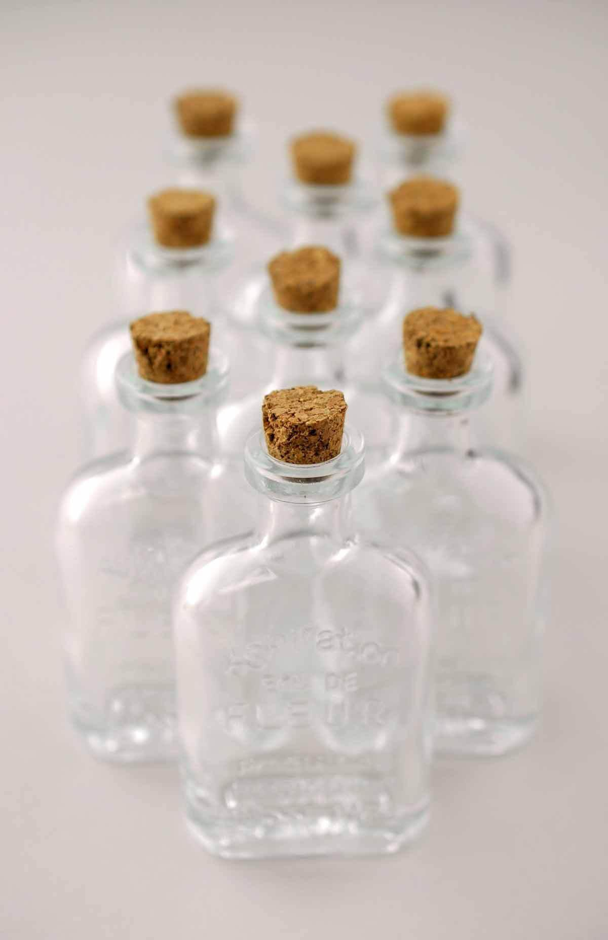small glass bottles with cork 45ml 3 25in pack of 10