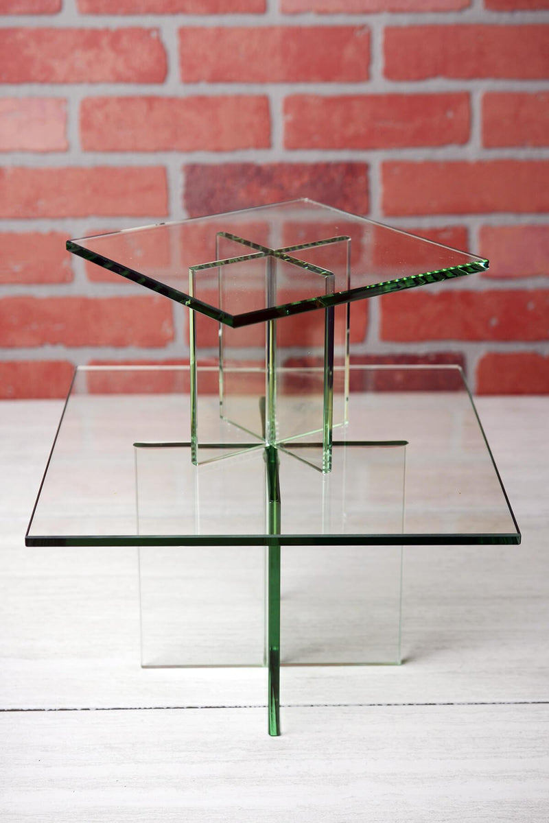 clear glass plate display stand 11 75 x7