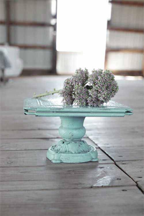 turquoise turn of the century decorative metal pedestal 10 3 4 square