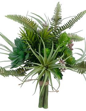 artificial succulent garden bouquet in green 10 5 tall