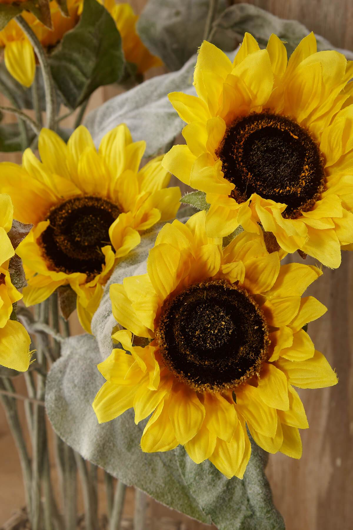 Sunflower Spray Yellow 24in (Pack of 12)