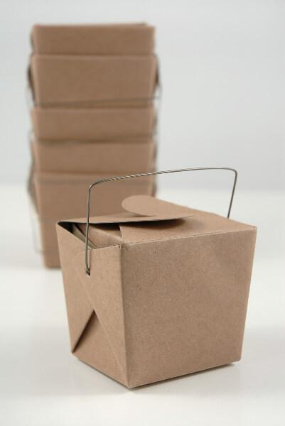 12 tiny kraft paper take out boxes 2 5in 16 oz