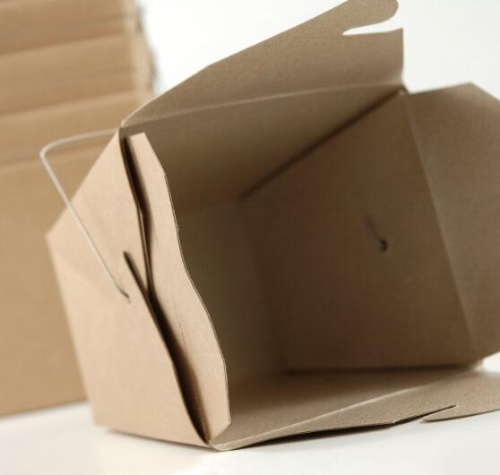 12 brown kraft paper 4 take out boxes