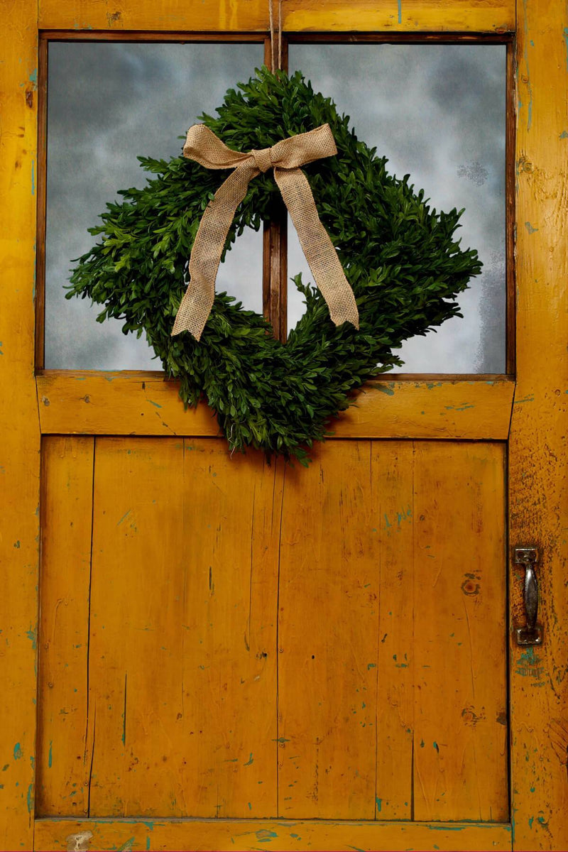 tea leaf artificial 14in square wreath