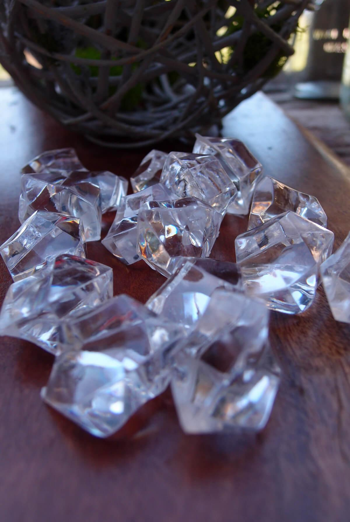 Clear Acrylic Gemstone Crystal Wedding Table Confetti  (3/4 LB BAG)