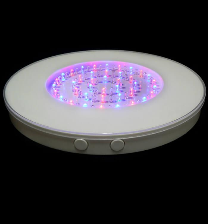 round led vase light base 80 multi color leds 10 inches white