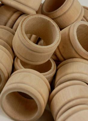 wood napkin rings pack of 25