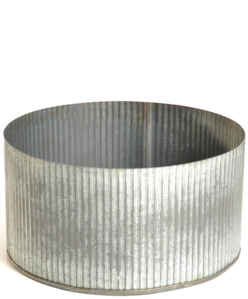 corrugated zinc pot 7 5 x 4 norah bowl