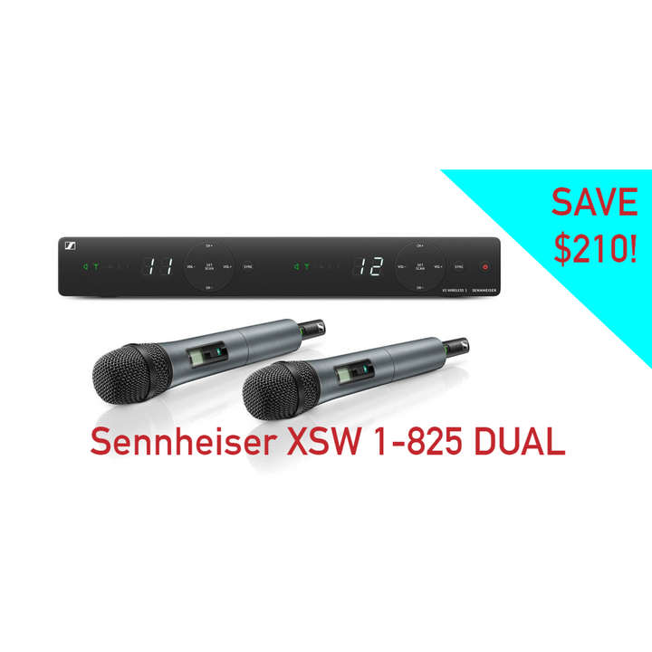 Sennheiser XSW 1 - 825 Dual 2 Microphone | Sale at Beyond Pro Sound and Lighting