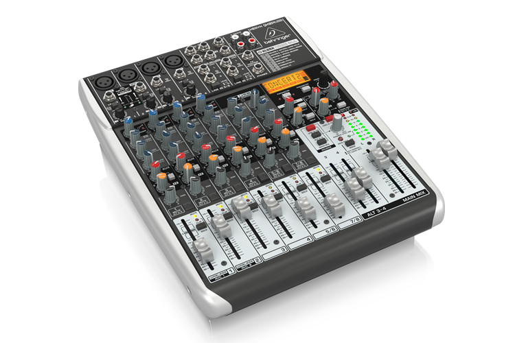 QX1204USB Behringer Premium 12-Input 2/2-Bus Mixer with XENYX Mic Preamps & Compressors
