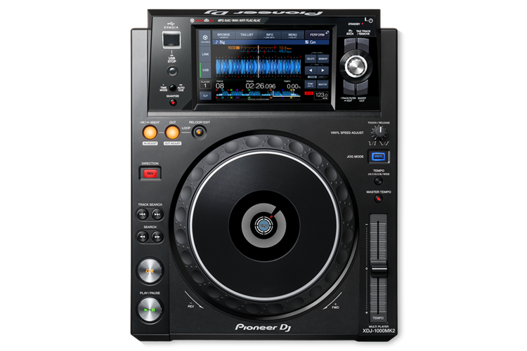 XDJ-1000MK2 Pioneer rekordbox-ready, digital deck with high-res audio support