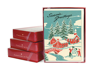 """Vintage Winter Wonderland"" Boxed Holiday Cards"