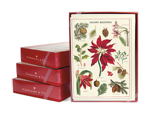 """Vintage Christmas Botanica"" Boxed Holiday Cards"