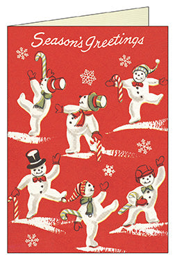 """Vintage Snowmen"" Boxed Holiday Cards"