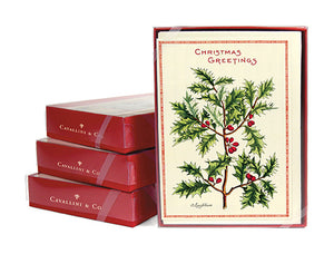 """Vintage Holly"" Boxed Christmas Cards"