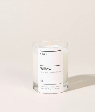 """Willow"" Organic Coconut Wax Votive Candle in Glass"