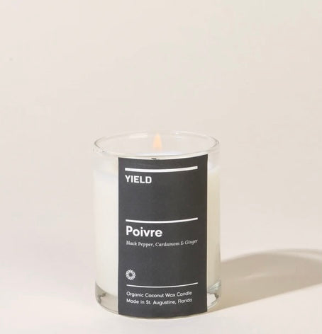 Poivre: Organic Coconut Wax Votive Candle in Glass