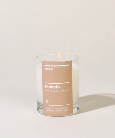 Pomelo: Organic Coconut Wax Votive Candle in Glass