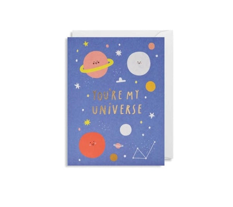 """You're My Universe"" Note Card"