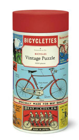 Vintage Jigsaw Puzzle: Bicycles