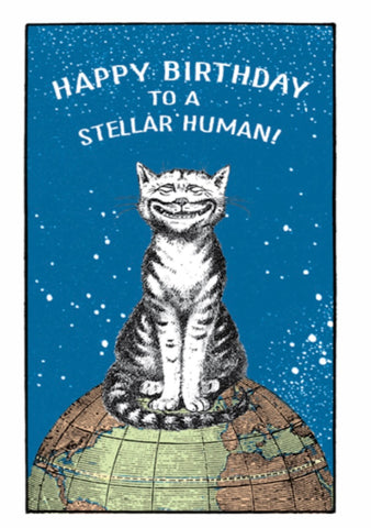 """Happy Birthday To A Stellar Human"" Note Card"