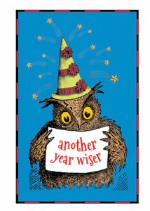 """Another Year Wiser"" Birthday Note Card"