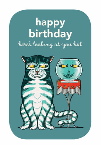 """Here's Looking At You Kid"" Happy Birthday Note Card"