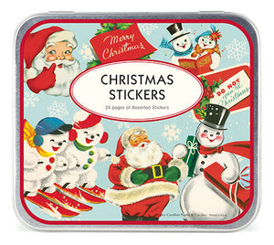 """Vintage Christmas 1"" set of assorted Christmas Stickers"