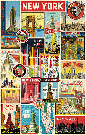 Vintage Jigsaw Puzzle: New York