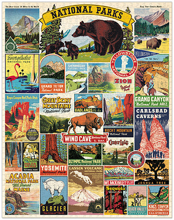 Vintage Jigsaw Puzzle: National Parks