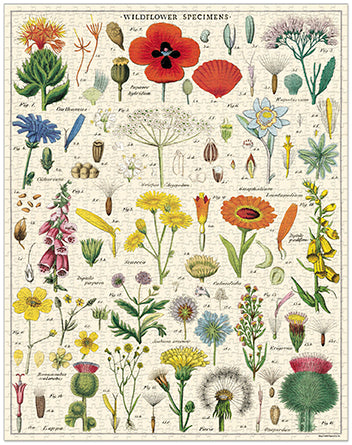 Vintage Jigsaw Puzzle: Wildflowers