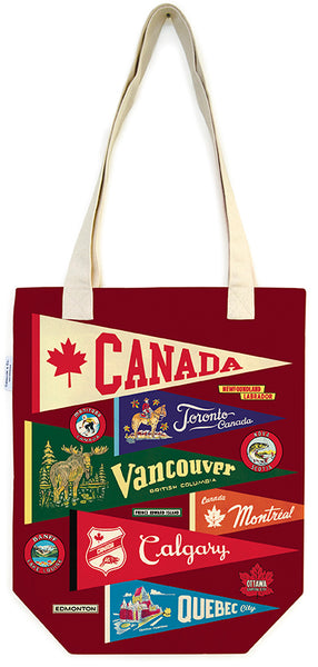 Canada Pennants Tote Bag