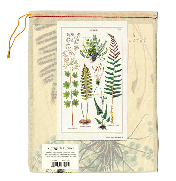 Ferns Tea Towel