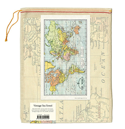 World Map Tea Towel