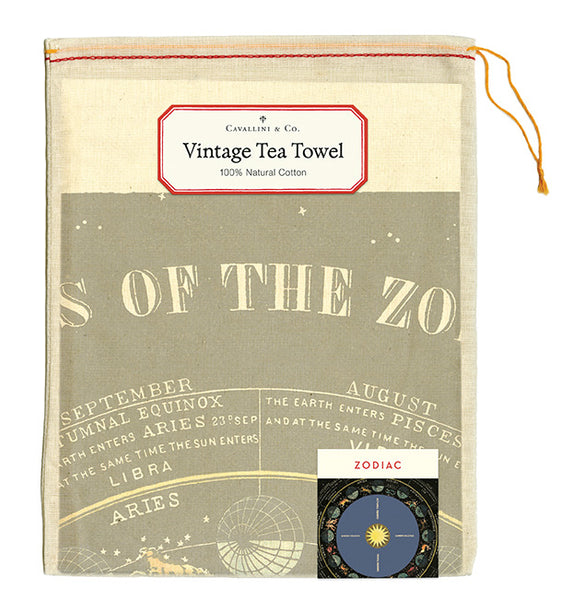Zodiac Chart Tea Towel