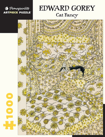 "Edward Gorey: ""Cat Fancy"" 1,000 piece jigsaw puzzle"