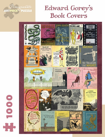 "Edward Gorey's ""Book Covers"" 1,000 piece jigsaw puzzle"