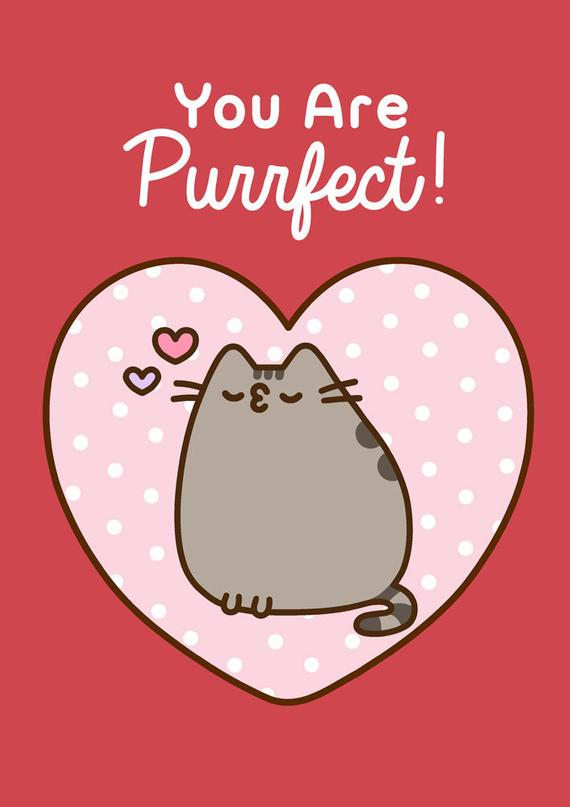 """You Are Purrfect"" Note Card"