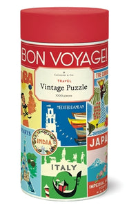 Vintage Jigsaw Puzzle: Travel